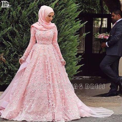 Gaun Pengantin Muslimah Modern 2018 Elegant List Of Gaun Pengantin Muslim Wedding Dressses Long Sleeve