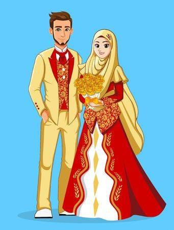 Gaun Pengantin Muslimah Modern 2019 Luxury 108 823 Muslim Cliparts Stock Vector and Royalty Free