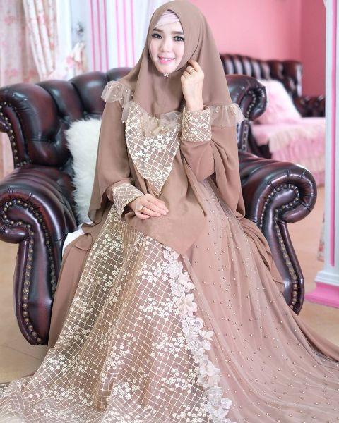 Gaun Pengantin Muslimah Modern Elegan Luxury √ 18 Model Baju Pesta Muslim 2019 Edisi Gaun Pesta