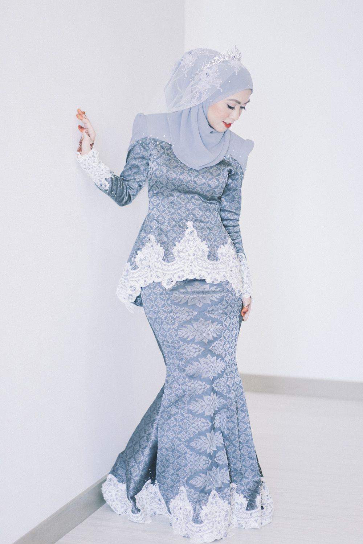 Gaun Pengantin Muslimah Modern Elegan New songket In 2019