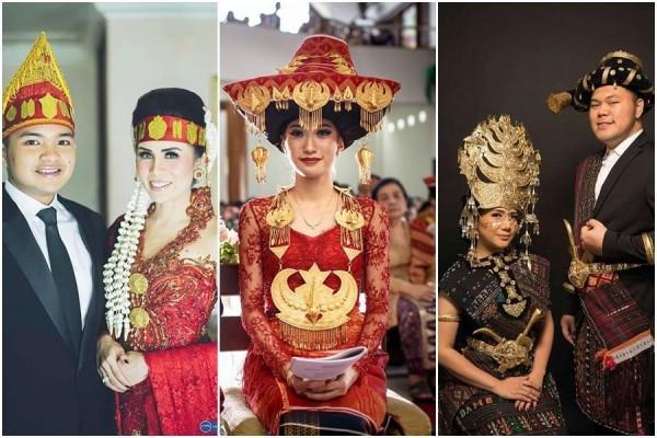 Gaun Pengantin Muslimah Modern Elegan Unique 15 Busana Adat Batak