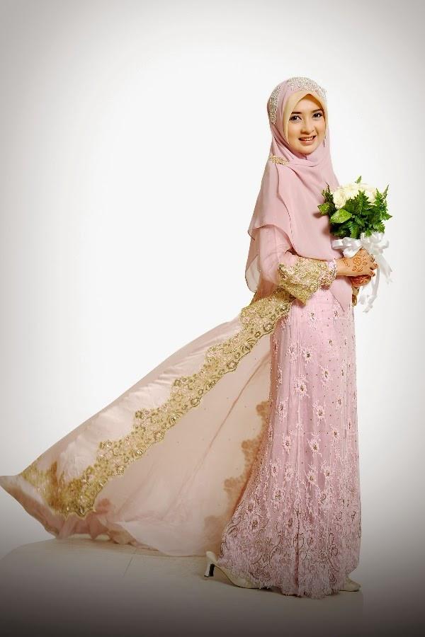 Gaun Pengantin Muslimah Modern Elegan Unique Kebaya Syar I Bercadar Paket Data C