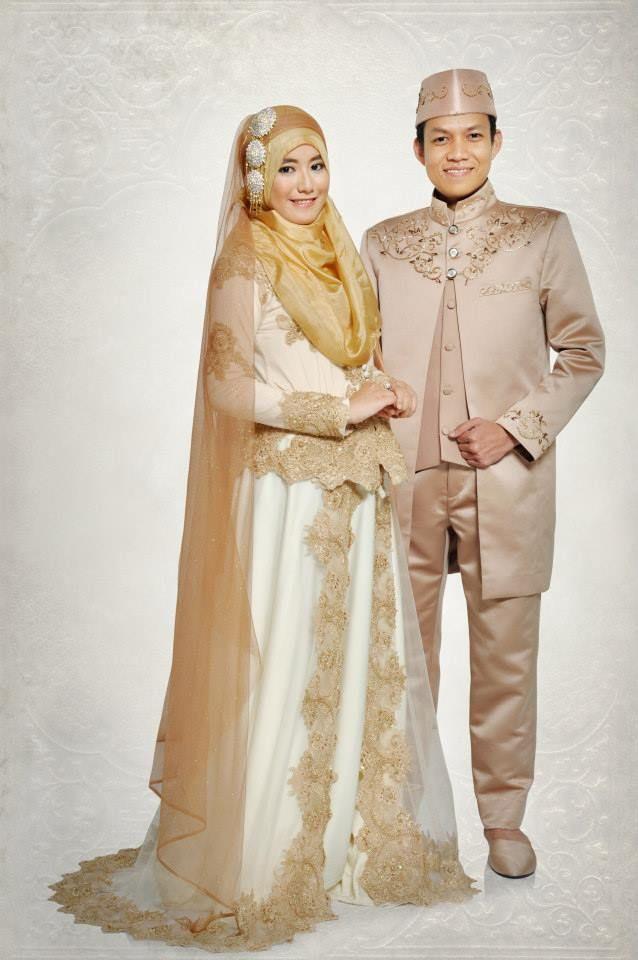 Gaun Pengantin Muslimah Modern Lovely Syar I Wedding Hijab Khimar Muslimbride Muslim Wedding