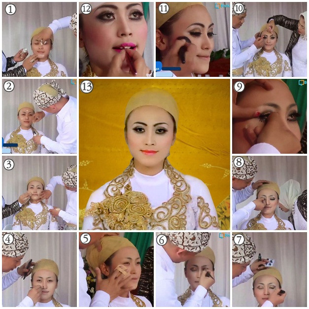 Gaun Pengantin Muslimah Modern New Make Up Dan Tata Busana Make Up Pengantin Muslim Modern