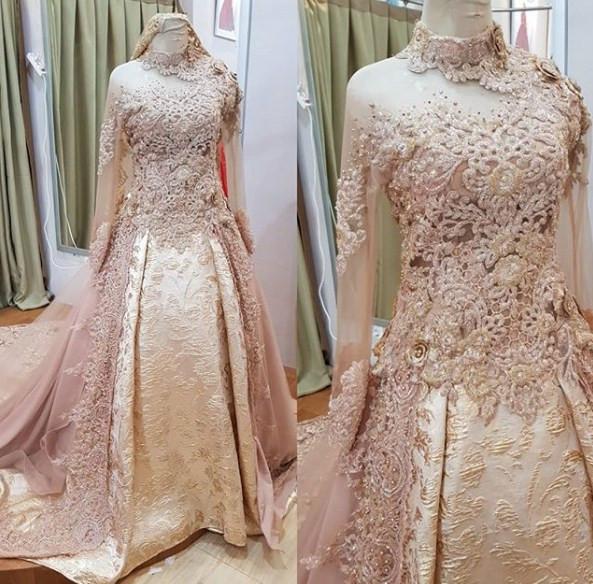 Gaun Pengantin Muslimah Modern Unique Model Kebaya Akad Nikah Modern Model Kebaya Terbaru 2019