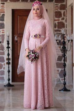 Gaun Pengantin Muslimah Modern Warna Pink Beautiful 16 Best Gaun Pengantin Muslimah Malaysia Images