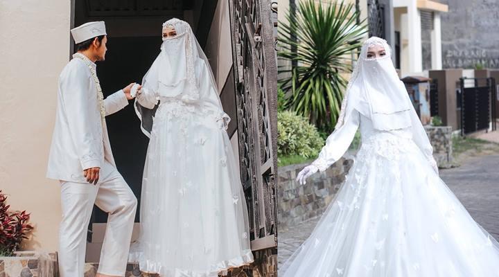 Gaun Pengantin Muslimah Modern Warna Pink Fresh top Info Gaun Pengantin Niqab Baju Pengantin