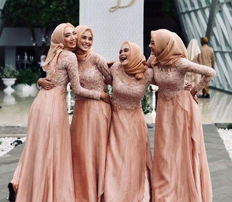 Gaun Pengantin Muslimah Modern Warna Pink Inspirational List Of Gaun Pengantin Muslim Peach Images and Gaun