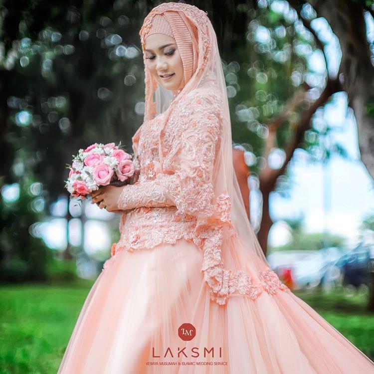 Gaun Pengantin Muslimah Modern Warna Pink Unique Pin On Hijabi❤️queen