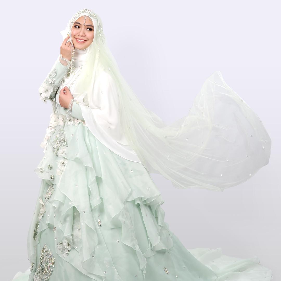 Gaun Pengantin Muslimah Modern Warna Putih Best Of 7 Desain Baju Pengantin Syar I Modern Ala Desainer Wanita