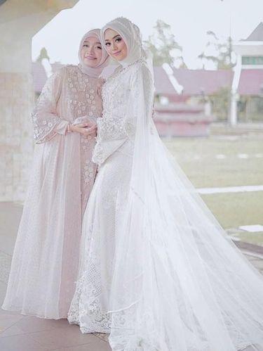 Gaun Pengantin Muslimah Modern Warna Putih Elegant 8 Inspirasi Gaun Pengantin Muslimah Dari Artis Hingga Selebgram