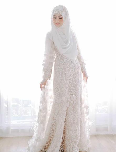 Gaun Pengantin Muslimah Modern Warna Putih Elegant Gaun Pengantin Muslimah Syarat Dan Tips Untuk Memilihnya