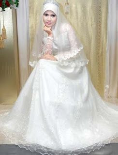 Gaun Pengantin Muslimah Modern Warna Putih Fresh Baju Pengantin Muslim Baju Pengantin Muslim Model Baju