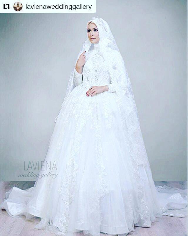 Gaun Pengantin Muslimah Modern Warna Putih Inspirational 30 Model Baju Nikah Warna Putih Model Baju Terbaru Dan