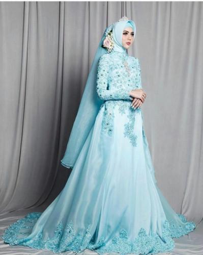 Gaun Pengantin Muslimah Modern Warna Putih Lovely 24 Gaun Pengantin Muslimah Sederhana Tapi Modern
