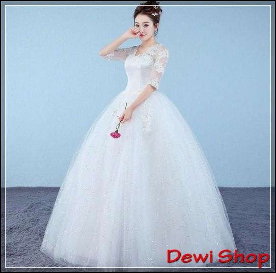 Gaun Pengantin Muslimah Modern Warna Putih Lovely 50 Model Gaun Pengantin Putih Modern Dan Elegan Dewi Shop