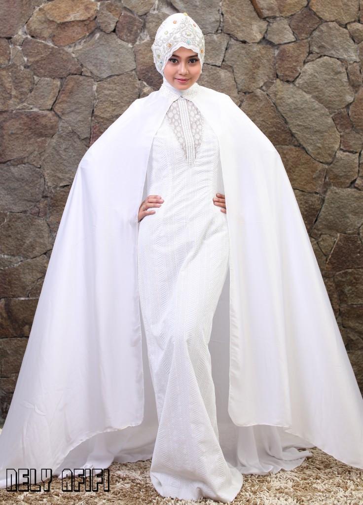 Gaun Pengantin Muslimah Modern Warna Putih Lovely Index Of Wp Content 2015 03