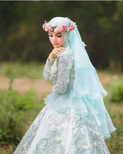 Gaun Pengantin Muslimah Modern Warna Putih New Tidak Melulu Berwarna Putih Coba Intip 5 Inspirasi Warna