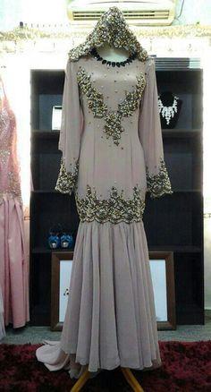 Gaun Pengantin Muslimah Modern Warna Silver New 115 Best Baju Pengantin Images In 2019