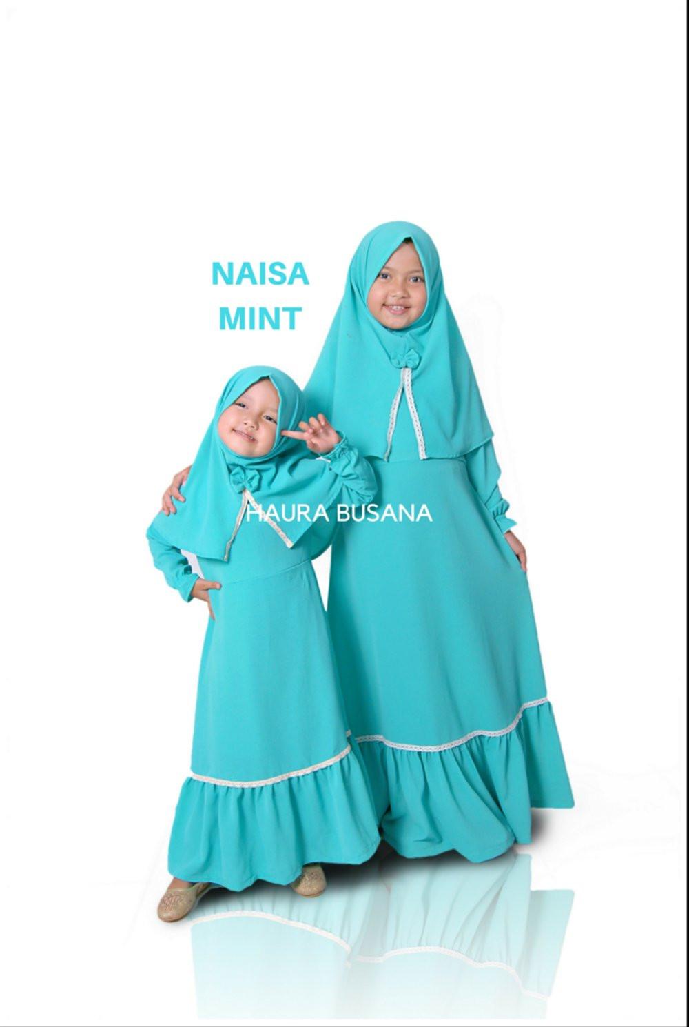 Gaun Pengantin Muslimah Modern Warna Silver New Bayi