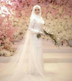 Gaun Pengantin Muslimah Putih Beautiful 23 Best Veil Nikah Cantik Images In 2019