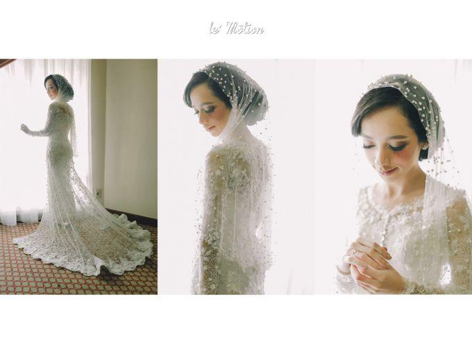 Gaun Pengantin Muslimah Putih Lovely Ikhsan & Diba Pernikahan Adat Batak Mandailing by Le Motion