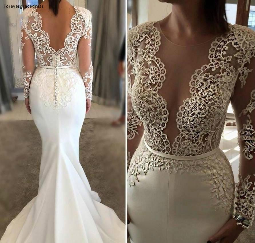 Gaun Pengantin Muslimah Putih Luxury forevergracedress Real S Peach Color Flower Girl Dress