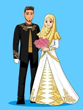 Gaun Pengantin Muslimah Simple Beautiful 108 823 Muslim Cliparts Stock Vector and Royalty Free