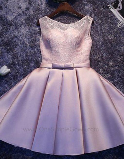 Gaun Pengantin Muslimah Simple Beautiful Elegant Simple Lace Satin Dinner Short Dress
