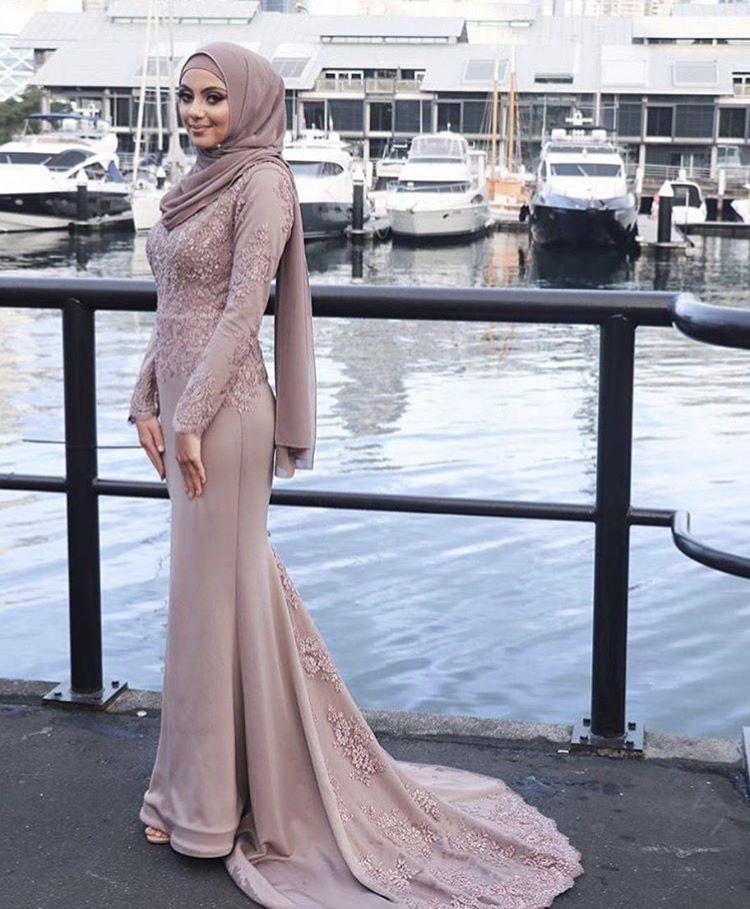 Gaun Pengantin Muslimah Simple Dan Elegan Beautiful ⚜pinterest Elegant Point⚜