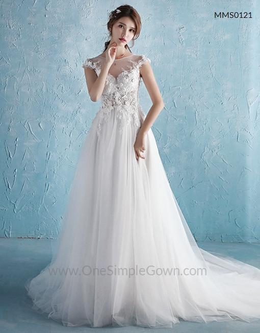 Gaun Pengantin Muslimah Simple Dan Elegan Beautiful Tulle Lace Fairy Mermaid Wedding Dress Esimplegown