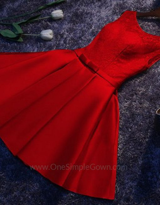 Gaun Pengantin Muslimah Simple Dan Elegan Fresh Elegant Simple Lace Satin Dinner Short Dress