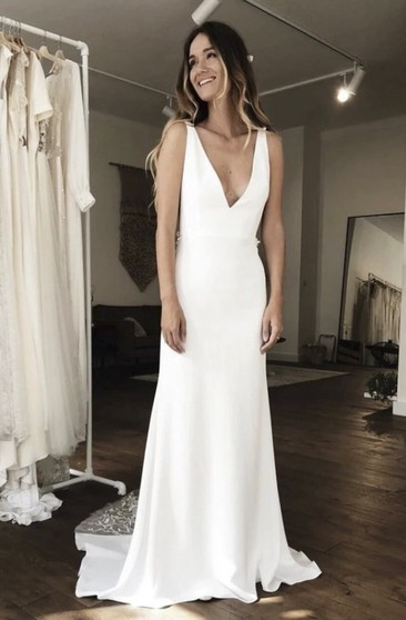 Gaun Pengantin Muslimah Simple Dan Elegan Luxury Cheap Bridal Dress Affordable Wedding Gown