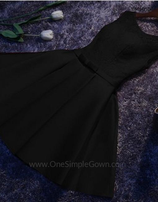 Gaun Pengantin Muslimah Simple Elegan Beautiful Elegant Simple Lace Satin Dinner Short Dress