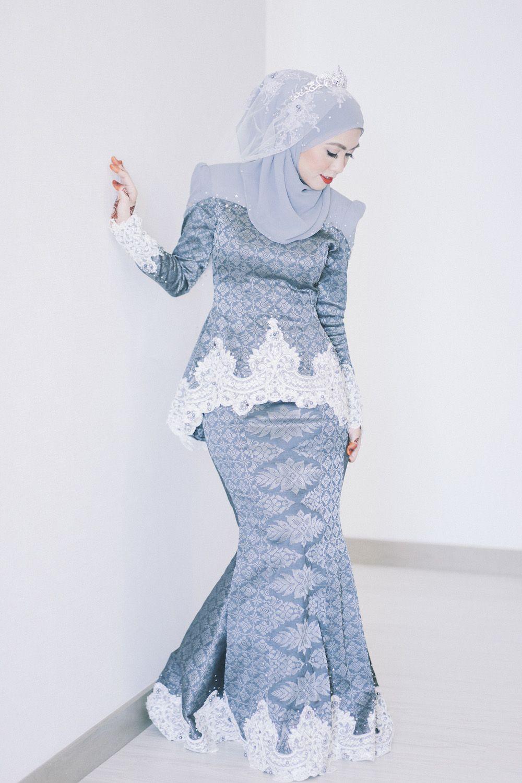 Gaun Pengantin Muslimah Simple Elegan Beautiful songket In 2019
