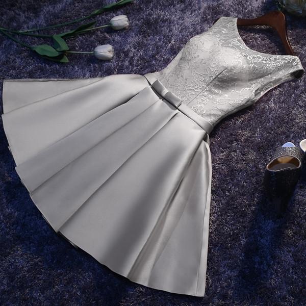 Gaun Pengantin Muslimah Simple Elegan Best Of Elegant Simple Lace Satin Dinner Short Dress
