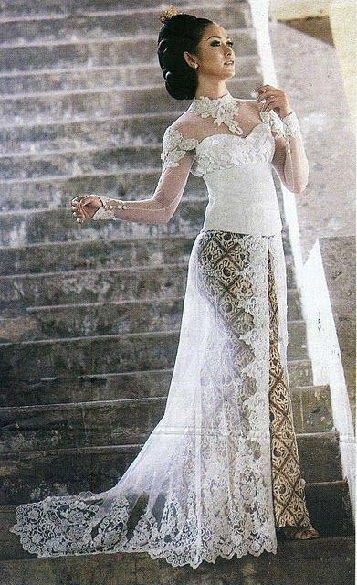 Gaun Pengantin Muslimah Simple Elegan Elegant Kebaya Simple Design and Color Kebaya