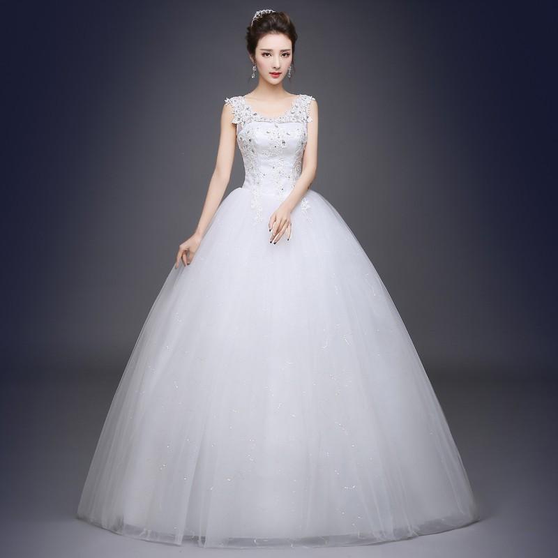 Gaun Pengantin Muslimah Simple Elegan New wholesale Romantic Y V Neck Lace Wedding Dresses 2019 Elegant Princess Bride Gown Dresses Lace Up Vestido De Noiva Princess Gown Wedding Dresses
