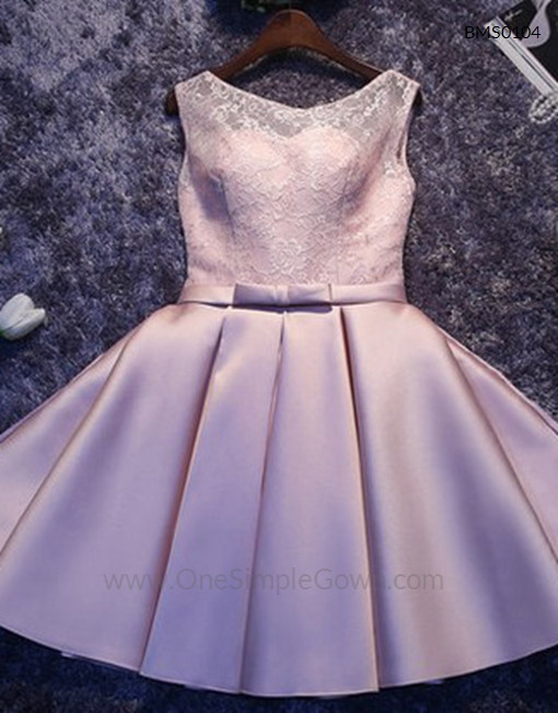 Gaun Pengantin Muslimah Simple Elegan Unique Elegant Simple Lace Satin Dinner Short Dress