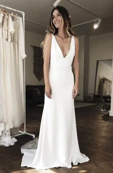 Gaun Pengantin Muslimah Simple Elegant Cheap Bridal Dress Affordable Wedding Gown