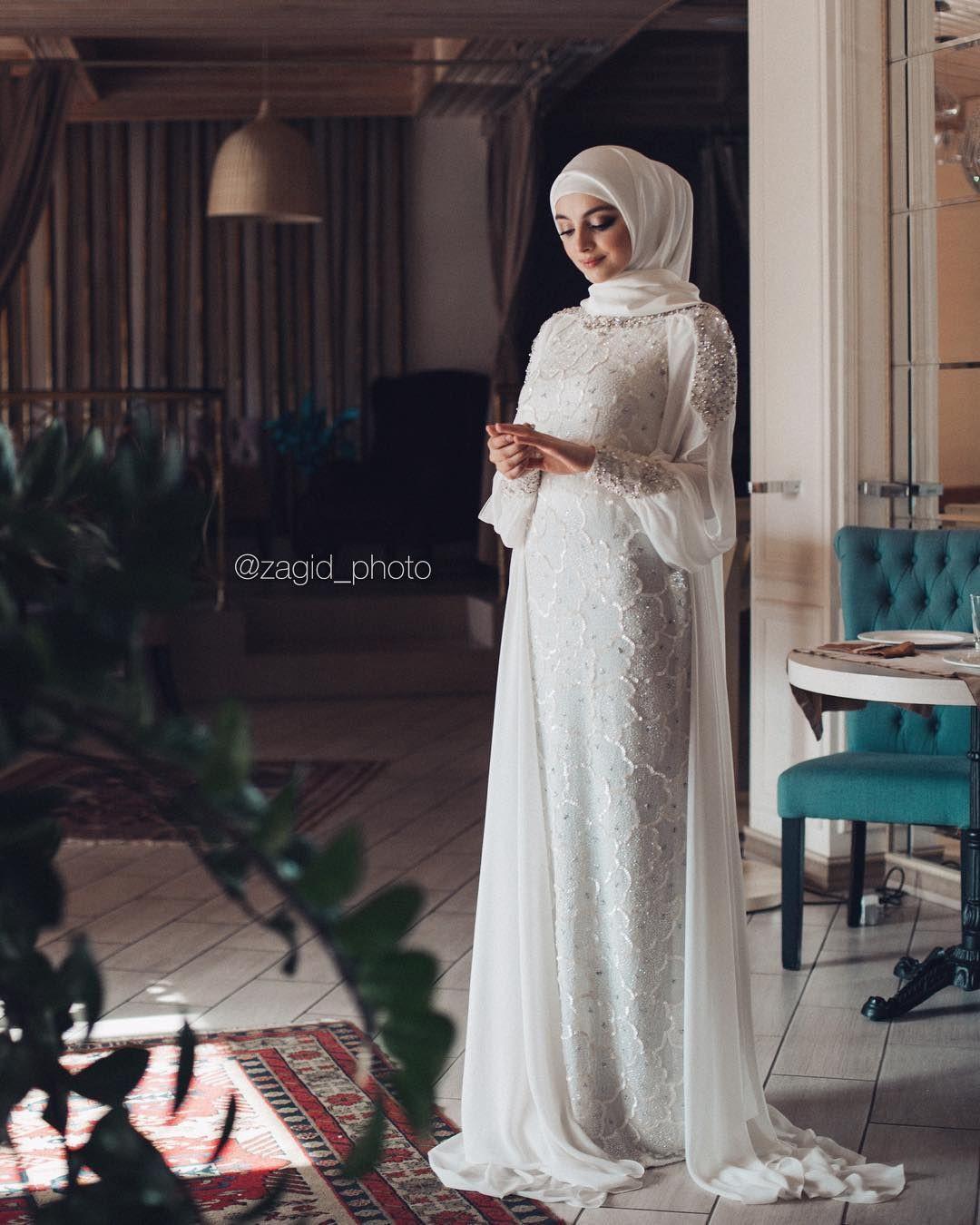 Gaun Pengantin Muslimah Simple Tapi Elegan Luxury Pin Oleh СевиРя Бекирова Di Хиджабы Di 2019