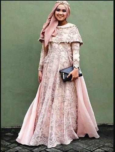 Gaun Pengantin Muslimah Untuk orang Gemuk Beautiful Dress Brokat Untuk orang Gemuk Berkerudung Gamis Brokat