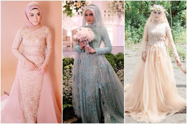 Gaun Pengantin Muslimah Untuk orang Gemuk Elegant 12 Desain Gaun Pernikahan Muslimah Elegan Nan Sederhana