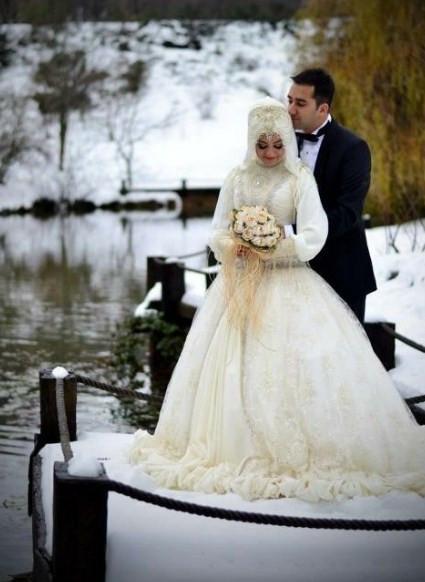 Gaun Pengantin Muslimah Untuk orang Gemuk Lovely 60 Gaun Pengantin Muslimah Edisi Terbaru 2019