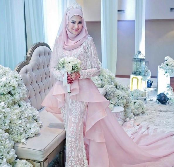 Gaun Pengantin Muslimah Untuk orang Gemuk Luxury 60 Gaun Pengantin Muslimah Edisi Terbaru 2019