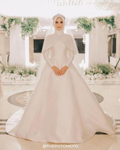 Gaun Pengantin Muslimah Untuk orang Gemuk Luxury Tampil Cantik Dan Anggun Di Hari Pernikahan Dengan Inspirasi