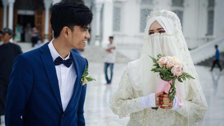Gaun Pengantin Syari Muslimah Bercadar Awesome Galeri 15 Inspirasi Gaun Pengantin Bercadar Tampil Menawan