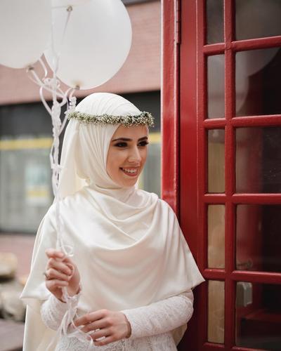 Gaun Pengantin Syari Muslimah Bercadar Beautiful Ingin Tampil Cantik Dan Elegan Di Hari Pernikahanmu Kenakan