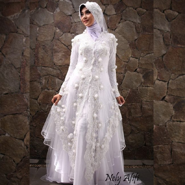 Gaun Pengantin Syari Muslimah Bercadar Best Of √ Gaun Pengantin Muslimah Syar I Simple Dan Elegan