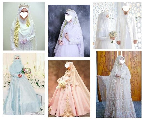 Gaun Pengantin Syari Muslimah Bercadar Elegant Gaun Pernikahan Syari Untuk Muslimah